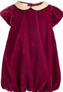 Baby girl's velvet dress  24 months